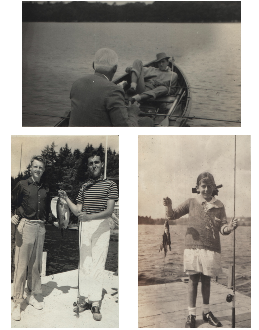 My grandfather, my uncle (in the striped shirt) and my mother (with the giant bow in her hair) were all adept at catching dinner.