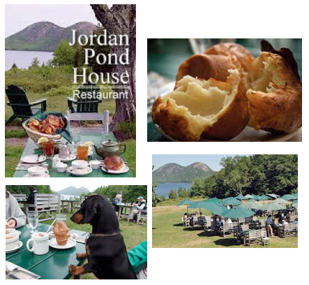 Tea and popovers with homemade strawberry jam at the Jordan Pond House. How perfectly civilized!