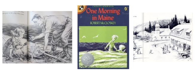 Illustrations of South Brooksville from One Morning in Maine by Robert McCloskey